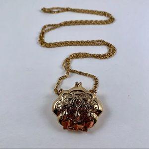 Vintage 1928 Co Purse Clutch Necklace